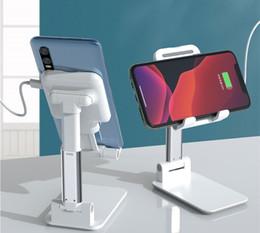 2020 Soporte de cargador de teléfono celular de escritorio Aluminio Ajustable Teléfono móvil Soporte para teléfono celular portátil flexible Cargador inalámbrico en venta