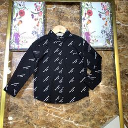 $enCountryForm.capitalKeyWord Australia - Kids designer clothing kids shirt full letter cover lapel shirt long sleeved shirt cotton curved tricolor optional