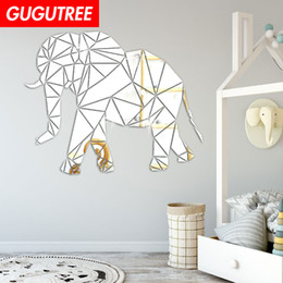 $enCountryForm.capitalKeyWord Australia - Decorate Home 3D elephant cartoon mirror art wall sticker decoration Decals mural painting Removable Decor Wallpaper G-420