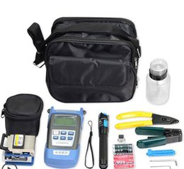 Optical Fiber Power Australia - Toolkit package Laser Power FTTH Fiber Optic Optical Power Meter Cable Tester with cleaver and stripper fis package