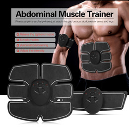Discount electric weight loss belt - Electric Abdominal Muscle Stimulator Exerciser Trainer Smart Fitness Gym Weight Loss Stickers Pad Body Slimming Massager