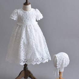866945d08197 Newborn White Princess Dress Baby Girls Baptism Dresses Easter Baby Dress 1  2 Years Birthday Long Infant Christening Gowns Y19050801