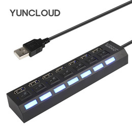 $enCountryForm.capitalKeyWord Australia - YUNCLOUD USB Splitter Hub 2.0 7 4 Ports USB on off High Speed Portable Multi-USB Adapter For Macbook Laptop Accessories Docking