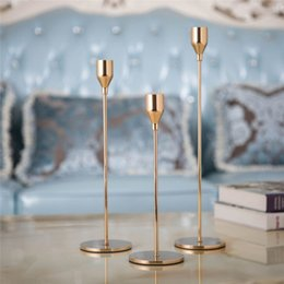 Candle Sticks Holders Australia - Metal Candle Holders Simple Golden Wedding Decoration Bar Party Living Room Decor Christmas New Year Home Decor Candlestick