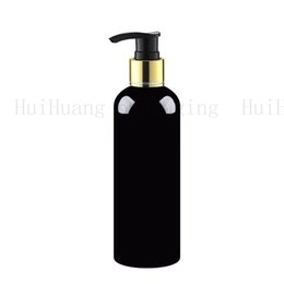 shampoo bottle gold Australia - 20pcs 300ml Professional Women Lady Beauty Shampoo Lotion Empty Plastic gold collar Pump Bottle Foam Make Up Cosmetic Container