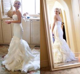 $enCountryForm.capitalKeyWord Australia - Cascading Ruffles Wedding Dresses Mermaid Sweetheart Tiers Bride Dresses 2019 New African Bridal Wedding Gowns vestido de noiva