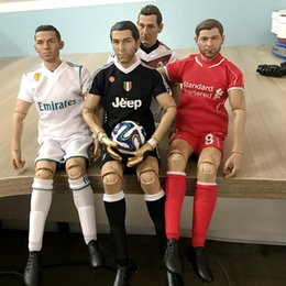 Clubs Figures Australia - Soccerwe 28 cm Height KODOXO Football Dolls Club Gerrard Pirlo Ronaldo 1 6 PVC Figure Collections Mini Personalized Kits