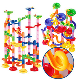 $enCountryForm.capitalKeyWord UK - 105PCS DIY Construction Marble Race Run Maze Balls Pipeline Type Track Building Blocks Baby Educational Block Toy for Children