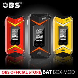 obs vape tank Australia - Original obs bat box mod with 218w and 2*18650 cells battery electronic cigarette vape vaping match obs engine crius damo tank