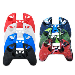 silicone case skin cover for ps4 Australia - 8 Colors Silicone Rubber Cover Skin Case for Sony PlayStation 4 PS4 Pro Slim Controller Gamepad Cover