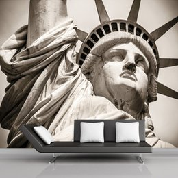 large photo sizes 2019 - Customize Any Size Statue Of Liberty City Landscape Living Room Large Murals 3D Personality Theme Hotel KTV 3D Photo Wal