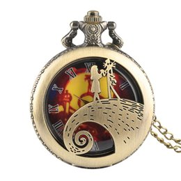 $enCountryForm.capitalKeyWord UK - Character Story Pattern Pocket Watch for Man, Quartz Pocket Watches for Boy, Ancient Bronze Fine Chain Men's Wath Gift