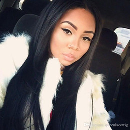 perms for black hair 2019 - Synthetic Lace Front Wigs Straight Long Hair for Black Women with Natural Hairline Black Heat Resistant Fiber Can be Per