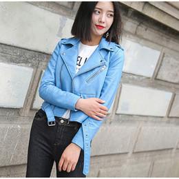 $enCountryForm.capitalKeyWord Australia - Leather Jacket For Women Fashion Pu Jackets Solid Motorcycle Faux Biker Short Coat Soft Turn-down Collar Female Leather Tops S19824