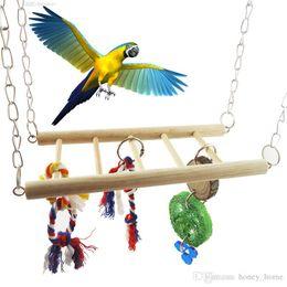 $enCountryForm.capitalKeyWord Australia - Wood Bird Parrot Swing Hanging Cage Toy Pet Cockatiel Budgie Bridge Hanging Hammock Toys Mayitr Pet Supplies