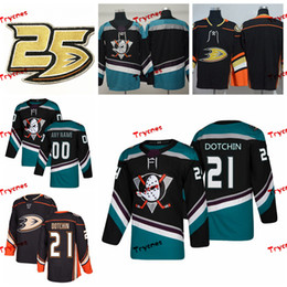 jake-shirt großhandel-2019 Anaheim Ducks Jake Dotchin Genähte Trikots Anpassen Alternative Schwarze Hemden Jake Dotchin Hockey Trikots Patch S XXXL