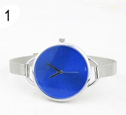 Wholesale Tide Lady Quartz Alloy Slender Individual Big Head Netted Watch Fashion Leisure Simple Watch Polychrome Metal