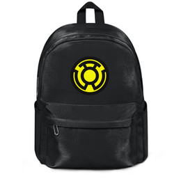 Black Yellow Sports Backpack Australia - Package,backpack Green Lantern yellow logo black fashion vintagepackage adjustable sports athleticbackpack
