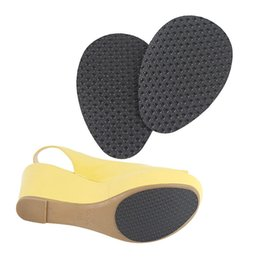 rubber stickers 2019 - 1 Pair Anti-Slip Forefoot Sticker Self-Adhesive High Heel Sole Protector Rubber Pad Cushion Insole Forefoot High Heels S