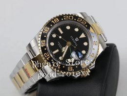 Real watches online shopping - Luxury Men s Automatic Cal GM Factory Watch Real Wrapped k Gold Never Fade L Steel Ceramic Men Gmt LN ETA Sapphire Watches