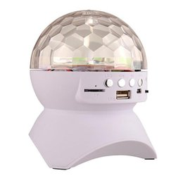 $enCountryForm.capitalKeyWord Australia - Disco DJ Party Bluetooth Speaker Built-In Light Show Stage Effect Lighting RGB Color Changing LED Crystal Ball Support TF AUX FM