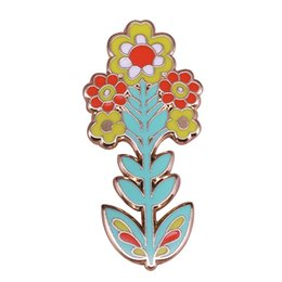 $enCountryForm.capitalKeyWord UK - Flower collar pin floral leaves art brooches charm women shirt jackets accessory mother girlfriend gift