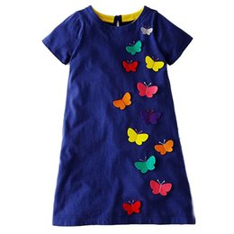 $enCountryForm.capitalKeyWord UK - Jumping Meters Striped Baby Girl Dress Summer Flower Dresses Children Clothing Patchwork Animal Princess Dress Kids