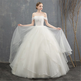 $enCountryForm.capitalKeyWord NZ - One shoulder light wedding white 2019 new summer bride married Korean simple slim princess dream forest