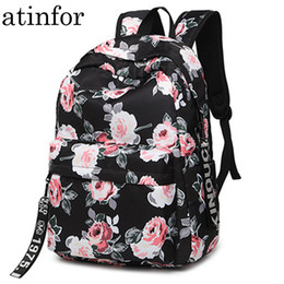 $enCountryForm.capitalKeyWord NZ - Fashion Water Resistant Nylon Women Backpack Flower Printing Female School Rucksack Girls Daily College Laptop Bagpack Y19051405