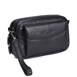 Long Hand Bags Australia - High Quality Genuine Natural Leather Hand Bag Men Casual Long Wallet Purse 6.4 Inch Mobile Cell Phone Male Handy Clutch Bags New Y19052104