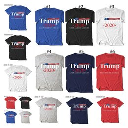 trump t shirts Australia - Men Women T Shirt Tee Trump 2020 Keep America Great Letters Printed Round Neck Short Sleeve T-shirt USA Flag Support Casual Tops D22503