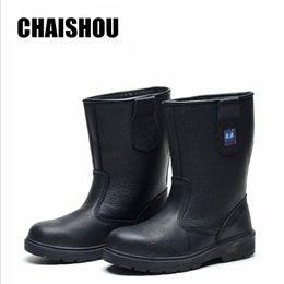 Oil Resistant Rubber Australia - men Work boots Oilfield High help shoes Wear resistant Oil resistant Acid and alkali Anti-smashing anti-piercing CS315