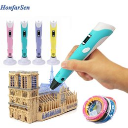 Blue printers online shopping - Christmas Birthday gift Creative D Drawing Pen DIY D Printing Pen Printer Pen Printing Best for Kids Gift with PLA Filament mm