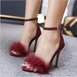 $enCountryForm.capitalKeyWord Australia - Top quality 2019 luxury Designer style Patent Leather Thrill Heels Women Unique Letters Sandals Dress Wedding Shoes Sexy shoes 35-43