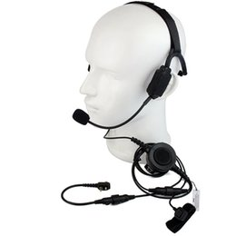 $enCountryForm.capitalKeyWord NZ - Hot Finger PTT MIC Military Bone Conduction Tactical Headphone Headset for Motorola MTP850 MTH850 Ham Radio Walkie Talkie C2215A