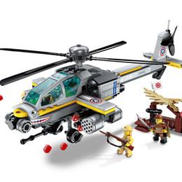 $enCountryForm.capitalKeyWord Australia - Enlighten Building Block Military Battle Sea Force Apache Raid 3 Figures 280pcs Educational Bricks Toy Boy Gift Y190606