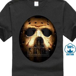 Black friday mask online shopping - Friday The th Jason Voorhees Mask Scary Retro Slasher Horror Movie New T Shirt Personalized T Shirt T Shirt