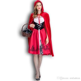 Ride Fancy Dress Australia - New Creative Sexy Halloween Costumes Little Red Riding Hood Costume Cosplay For Women Sexy Cosplay Fancy Dress