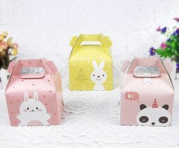 $enCountryForm.capitalKeyWord NZ - Cartoon Rabbit Handle Single Cupcake Muffin Packaging Paper Box Party Gift Boxes For Wedding Birthday Cake Box LX5691