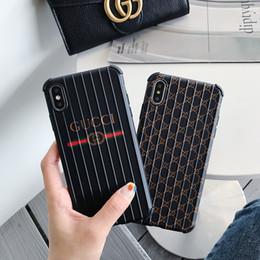 $enCountryForm.capitalKeyWord Australia - Designer Phone Case for Iphone 6 6s 6p 6sp 7 8 7p 8p X XS XR XSMax Fashion Popular Luxury Stripe Brand Back Cover New Design Suitcase Style