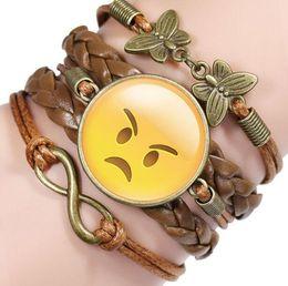 $enCountryForm.capitalKeyWord Australia - DIY Infinity Charm Bracelets Antique Cross Bracelets Hot sale styles fashion Leather Bracelets Multilayer funny bracelet
