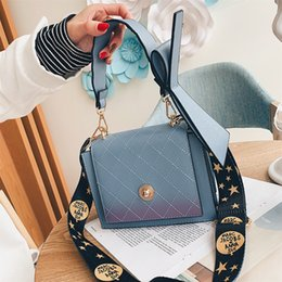 Small Packages Australia - Lady Bags Bag Female Bow Sideric Oblique Satchel Wide Straps Up Single Shoulder Small Square package