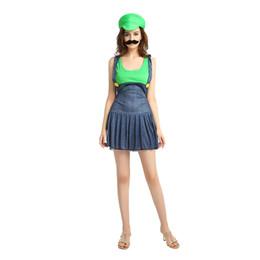 mario costumes women 2019 - Super Mario Bros Female Cosplay Women Costume 508 Mario Dress Cosplay Halloween Christmas Party Role Play discount mario