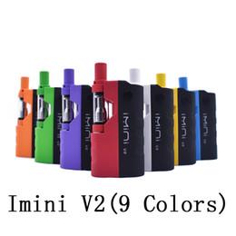 China Original imini V2 Thick Oil Kit 650mAh Box Mod Battery 510 Thread 0.5ml 1.0ml Imini I1 Tank Cartridge Vaporizer Kits Wax Atomizer Vapor supplier vapor wax box suppliers