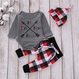 $enCountryForm.capitalKeyWord Australia - 0-18M Newborn Baby Kids Boy Girl Outfits Long Sleeve Romper Checks Long Pants Cute Fashion Cotton children clothing