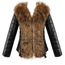 2f6a045d109 Hooded Faux Fur Coats Women Parka Overcoat Warm Leather Thick Jacket with  Sash Women Coat Plus Size