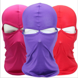 lycra face masks NZ - Outdoor bicycle motorcycle riding mask lycra breathable and quick dry face hat double-hole dust and sunscreen mask cycling masks