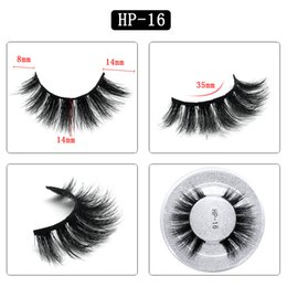 Single False Eyelashes Australia - 3D mink hair false eyelashes HP16 single pair round box packaging eyelashes Europe and the United States thick natural factory direct sales
