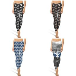 $enCountryForm.capitalKeyWord Australia - BYU Cougars Brigham Young football black Fashion Women's Printing Yoga pants Large size Casual Skinny Suitable for Training blue photo