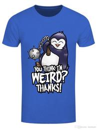 08b6dcd2 2018 Short Sleeve Cotton T Shirts Man Clothing Herren T-Shirt You Think I'M  Weird Blau100% Cotton Print Mens Summer O-Neck